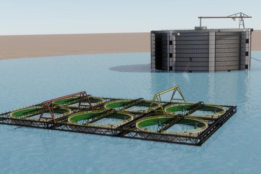 Aquantum Leap lukket oppdrettsanlegg.